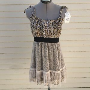 Axes femme kawaii floral tulle dress sz m NWT